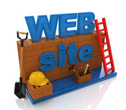 Construction website Royalty Free Stock Photo