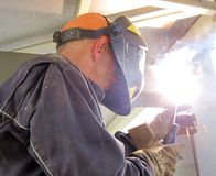 Construction welding Stock Photography