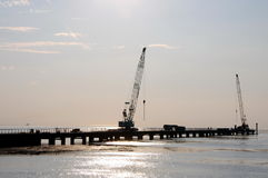 Construction of the Western High-Speed Diameter (WHSD). Sea Canal, St. Petersburg Stock Photos
