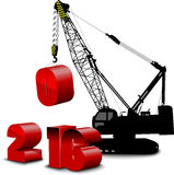 Construction white background on year 2016 Stock Photos