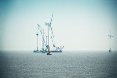 Construction of wind power Royalty Free Stock Images