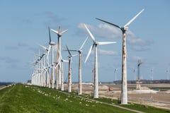 Construction of a windfarm along the Dutch coast Royalty Free Stock Photography
