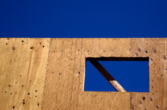 Construction: window opening Royalty Free Stock Photos