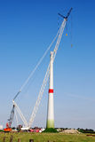Construction windturbine Stock Image