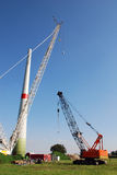 Construction windturbine Royalty Free Stock Images