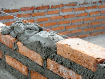 Construction wire level of brick layer.  Royalty Free Stock Photo