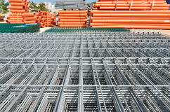 Construction wire mesh panel at warehouse Stock Images