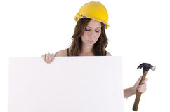 Construction woman (1) Stock Images