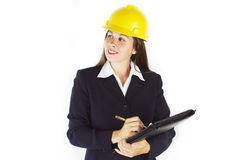 Construction Woman 2 stock images