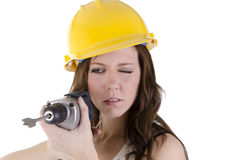 Construction woman (2) Royalty Free Stock Photo