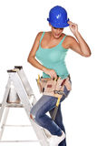 Construction woman. Royalty Free Stock Photography