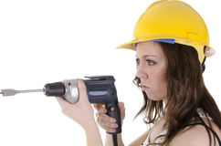 Construction woman (3) Royalty Free Stock Photo