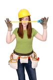 Construction woman Royalty Free Stock Photo