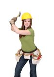 Construction woman Stock Photography