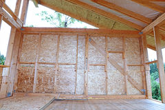 Construction of wood frame walls Stock Images