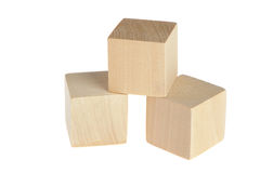 Construction from wooden cubes Stock Image
