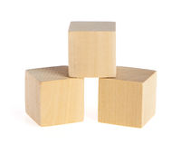 Construction from wooden cubes Royalty Free Stock Image
