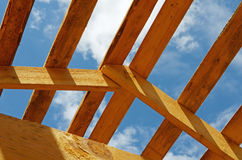 Construction of the wooden house Stock Images