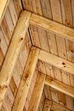 Construction a wooden roof - inside view Royalty Free Stock Image