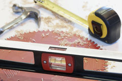 Construction Woodwork Tools Stock Photo