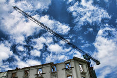 Construction work. Site, low angle view Royalty Free Stock Photos