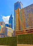 Construction work in Arch Street and Penn Center in Philadelphia. Philadelphia, USA - May 4, 2015: Construction work in Arch Street in the City Center and Penn Royalty Free Stock Photography