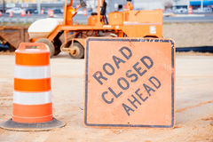 Construction work area with heavy equipment Stock Photography