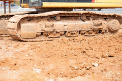Construction work area with heavy equipment Stock Images