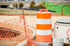 Construction work area with heavy equipment Royalty Free Stock Image