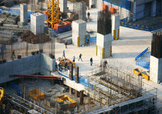 Construction work, Asia city Royalty Free Stock Photography