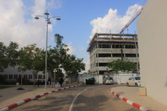Construction work in the Beer-Sheva university campus Stock Image