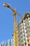 Construction work and building crane. stock images