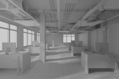 Construction work. interior design 3d render stock photos