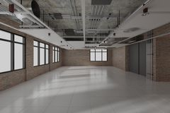 Construction work. interior design 3d render stock photography