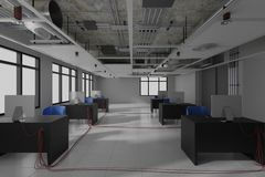 Construction work. interior design 3d render stock images