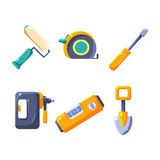 Construction Work Equipment Collection Stock Photo