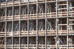 Construction work on a facade Stock Images