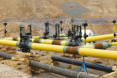 Construction work Gas pipeline Stock Photography