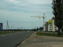 Construction work in the Gomel region in Belarus. Stock Photo