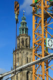 Construction work in Groningen Royalty Free Stock Photos