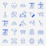 Construction Work Icon set. 25 Icons stock illustration