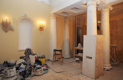 Construction work in the main lobby of the Bolshoi theatre Stock Images
