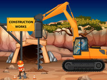 Construction work at the mine with core drill Stock Image