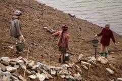 Construction Work at Myanmar Dam Stock Photo