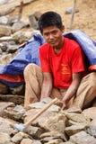 Construction Work at Myanmar Dam Royalty Free Stock Photos