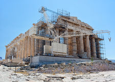 Construction work at the Parthenon, Athens Royalty Free Stock Photos