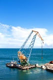 Construction work in port Royalty Free Stock Photos