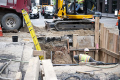 Construction Work on Road Royalty Free Stock Photos