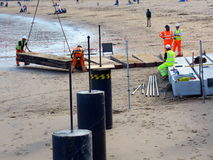 Construction Work on Scarborough Beach Royalty Free Stock Photos