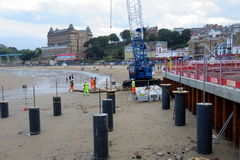 Construction Work on Scarborough Beach Stock Image